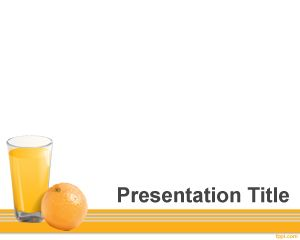 vitamin c powerpoint template is a free ppt template with an orange