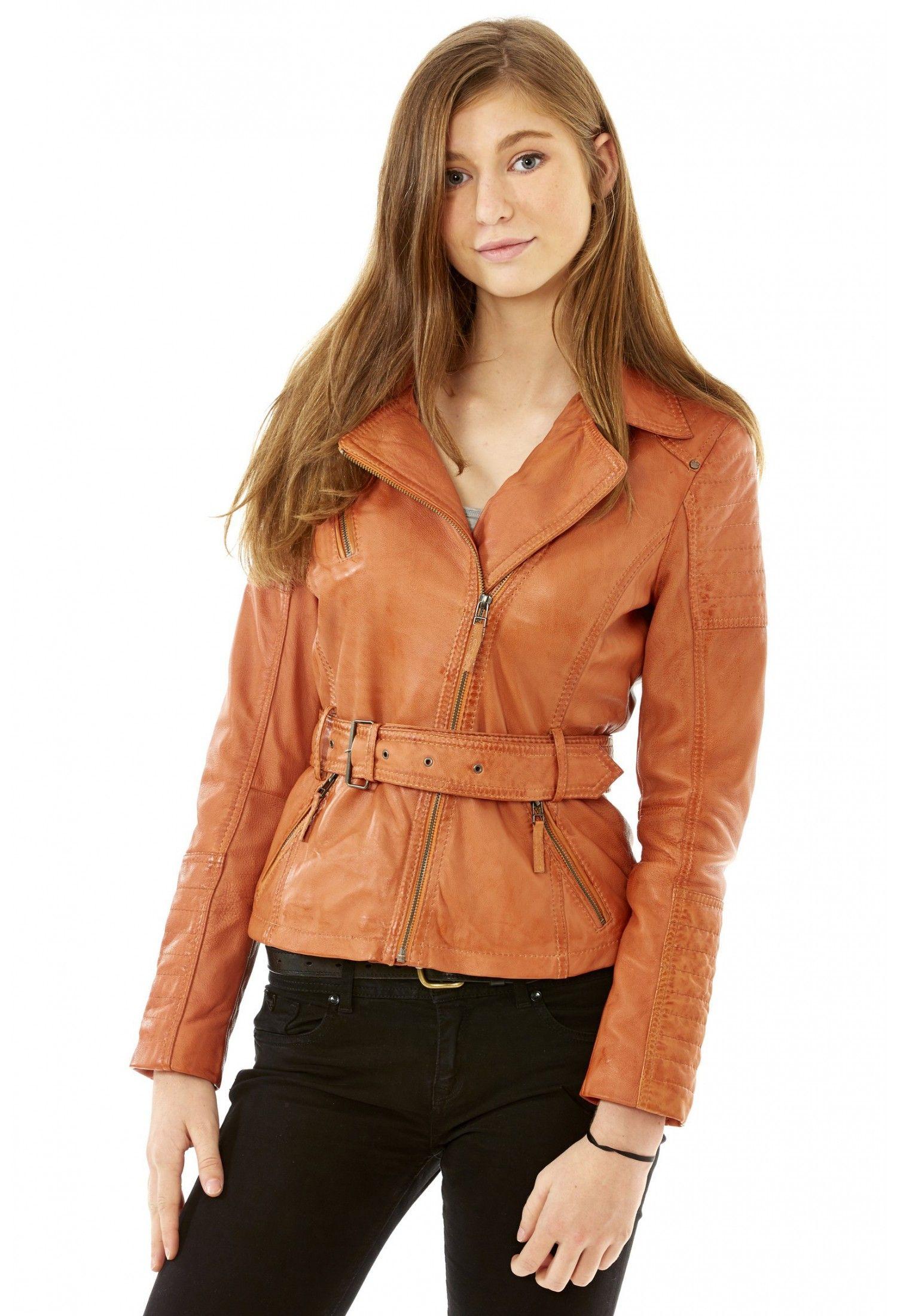 Veste cintree femme orange