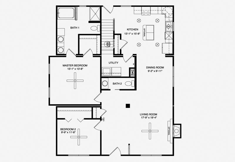 the Linville floor plan Modular homes