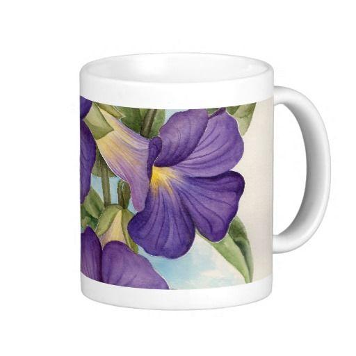 Purple Tropical Flower Painting Coffee Mugs. GET IT HERE http://www.zazzle.com/purple_tropical_flower_painting_multi_mug-168557304202402257