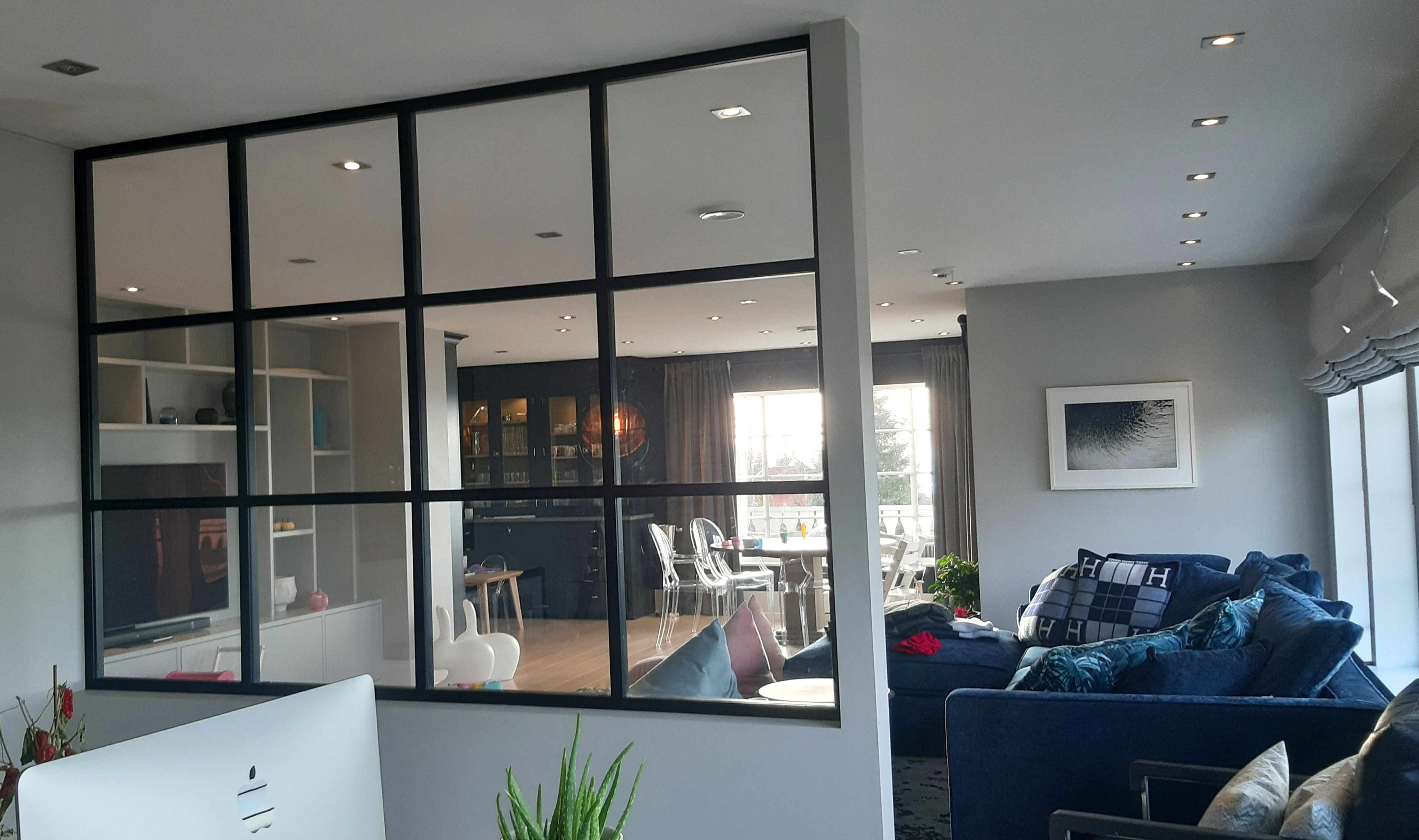 Fixed wall partition in steel and glass in premium quality f…