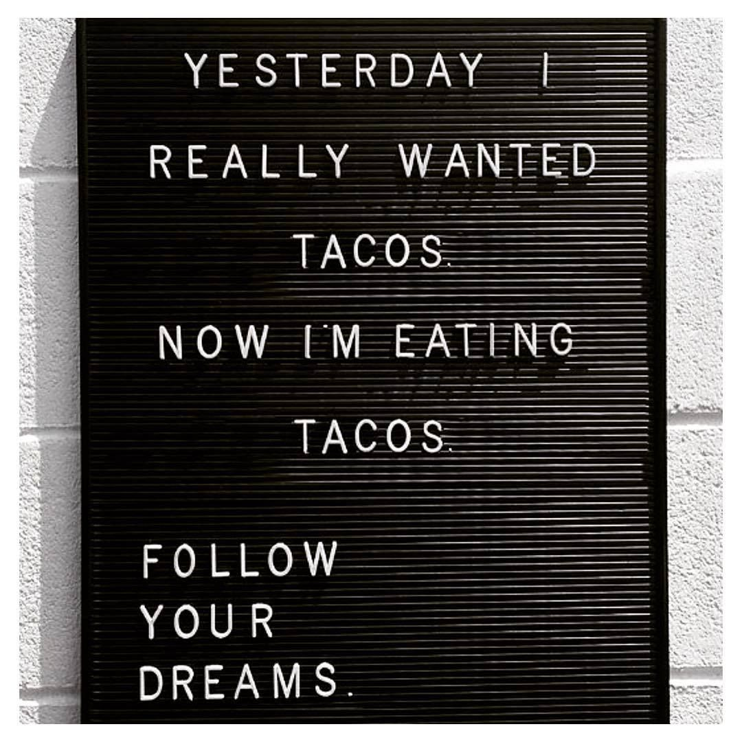Happy Labor Day! Make Your Dreams Reality! #tacos #catering #laborday2016 #dreams #taco http://www.RastaTaco.com