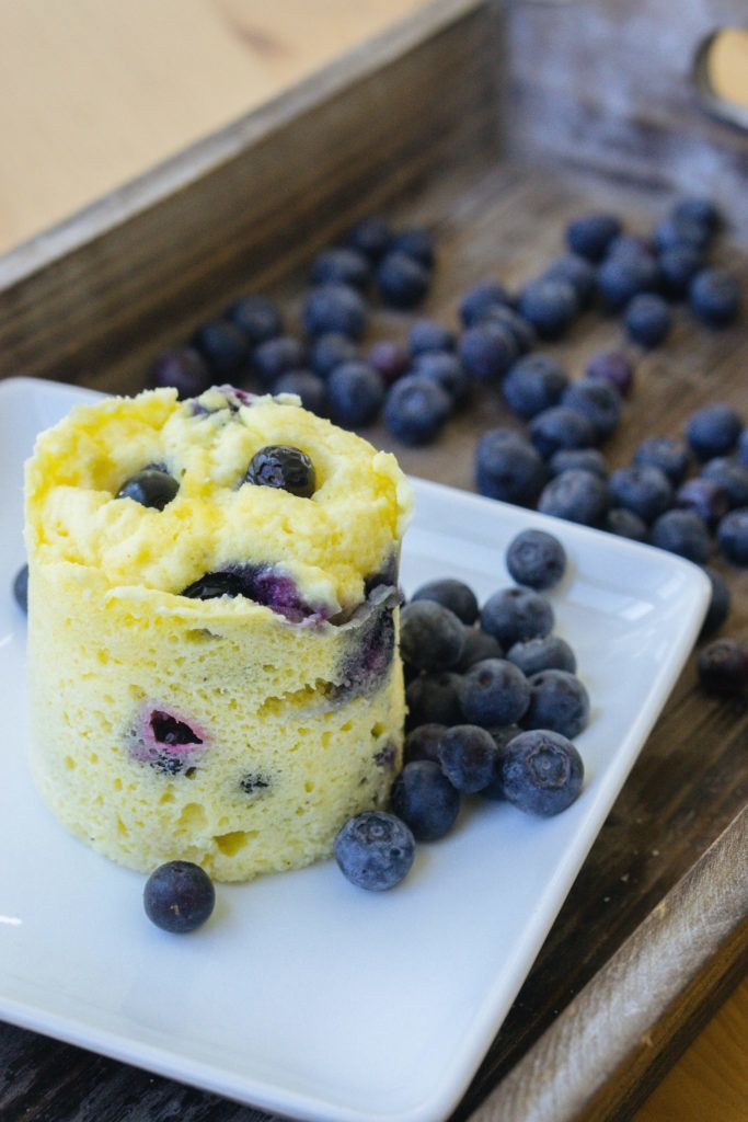 This low carb blueberry mug cake recipe will change the ...