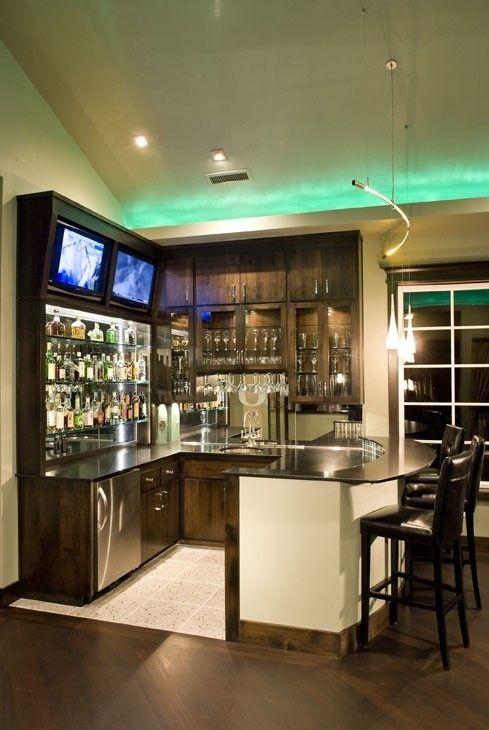 Luxury Basement Bar Setup