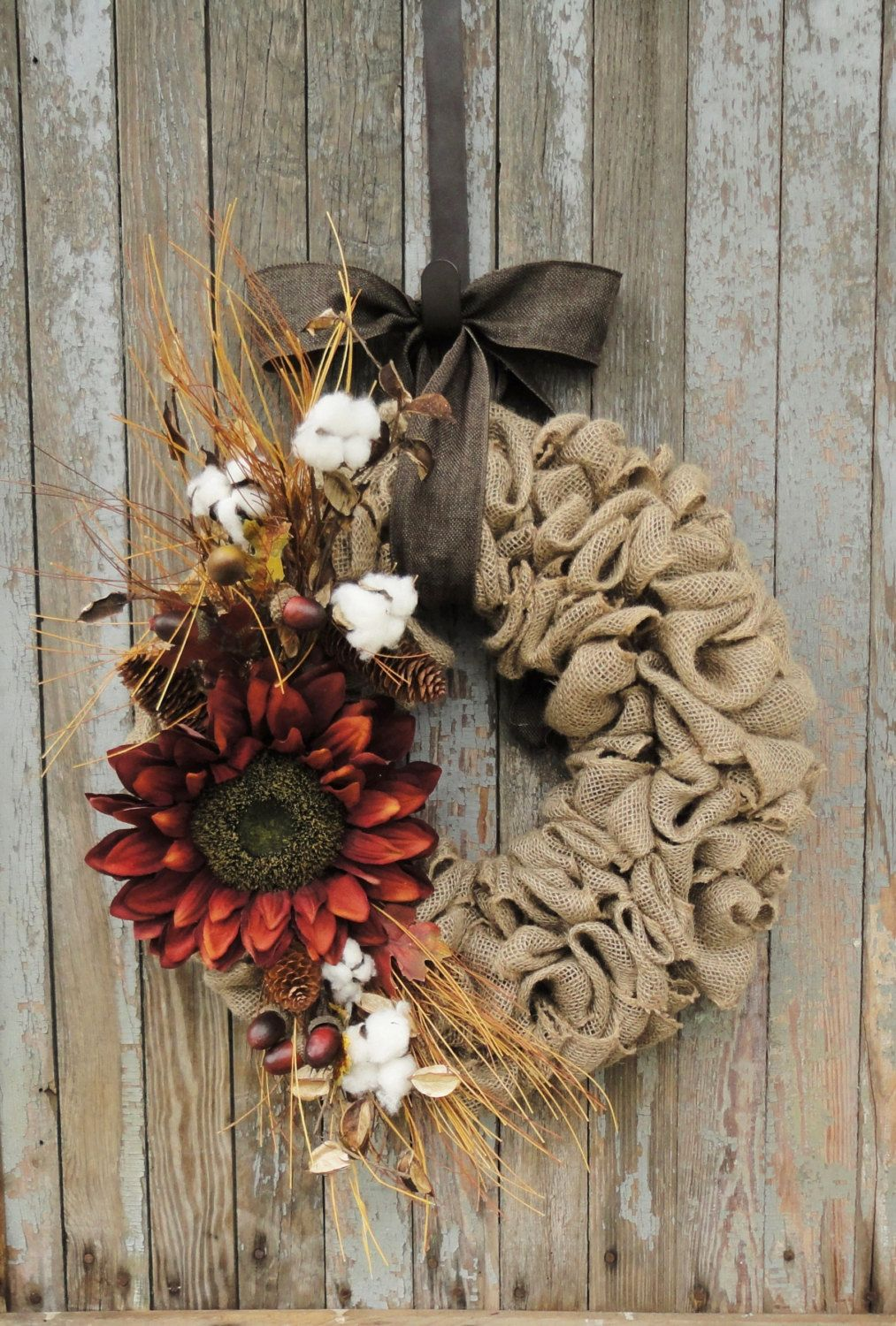 Photo of Items Similar to Fall Sunflower Wreath, Fall Burlap Wreath, Sunflower Vine Wreath, Fall Rattan Wreath, Fall Burlap Wreath, Fall Sunflower Wreath on Etsy