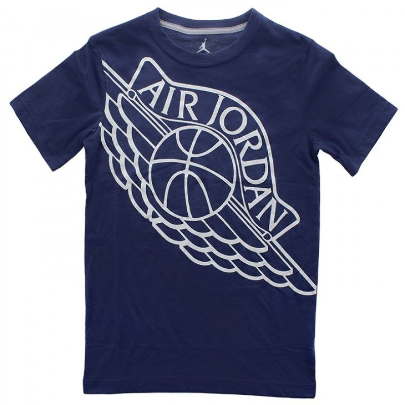 The Air Jordan Youth Wings Dri Fit Tee is available on