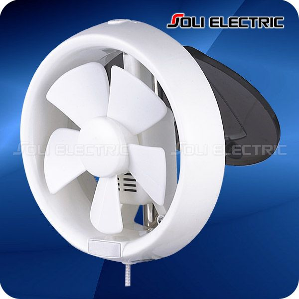 6, 8 Inch Round Bathroom Window Mounted Exhaust Fan 1.Full ABS Plastic,