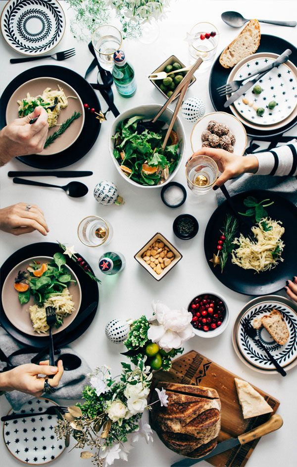 Action Overhead Food Photography. Holiday Tabletop Apt 34 6. Christmas  LunchChristmas DinnersDinner PartiesDinner ...