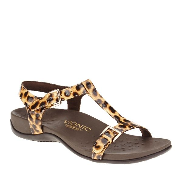 6e9bc65f2130 Vionic with Orthaheel Technology Adriane T-Strap Sandals