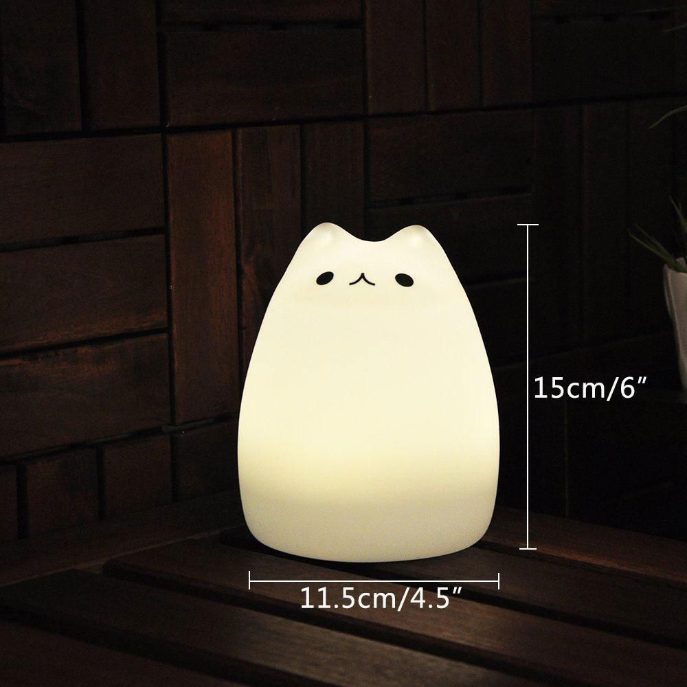 Leegoal Portable Silicone Led Children Night Light Usb Rechargeable Warm White Light 7 Color Breathing Dual Li Night Light Kids Night Light Led Night Light