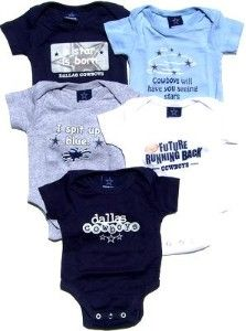 purchase cheap 7d620 83f83 NEWBORN Baby Infant Clothes Dallas Cowboys 5-Pack Bodysuit ...