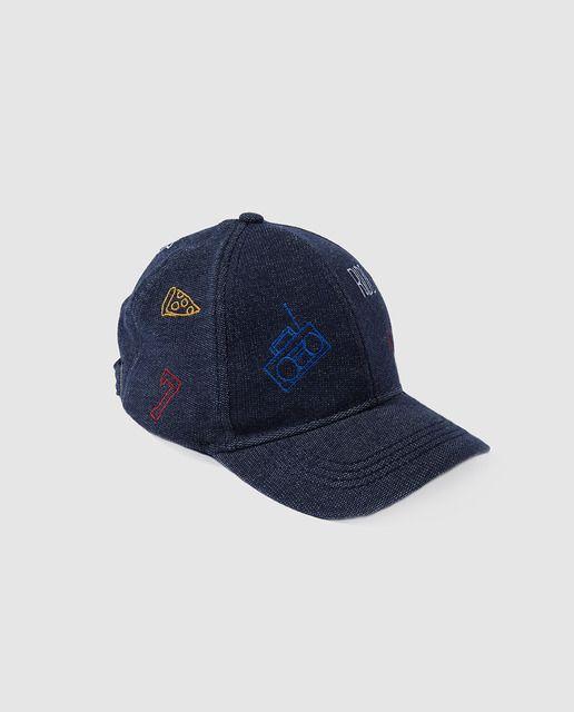 Gorra vaquera de niño Brotes en azul  0144bf50468