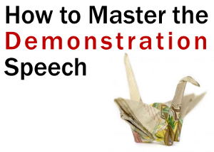 How To Master The Demonstration Speech  Awesome Ideas