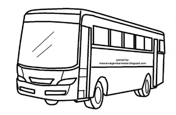 Mewarnai Gambar Sketsa Bus 7 Playland In 2019
