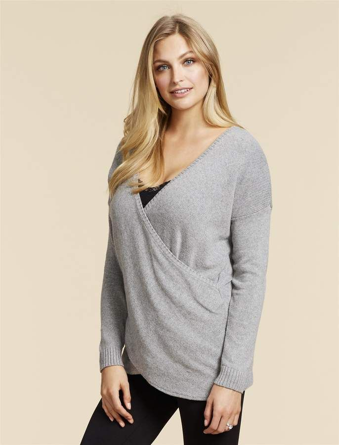 95c63c03683 Motherhood Maternity Jessica Simpson Pull Down Cross Front Nursing Shirt