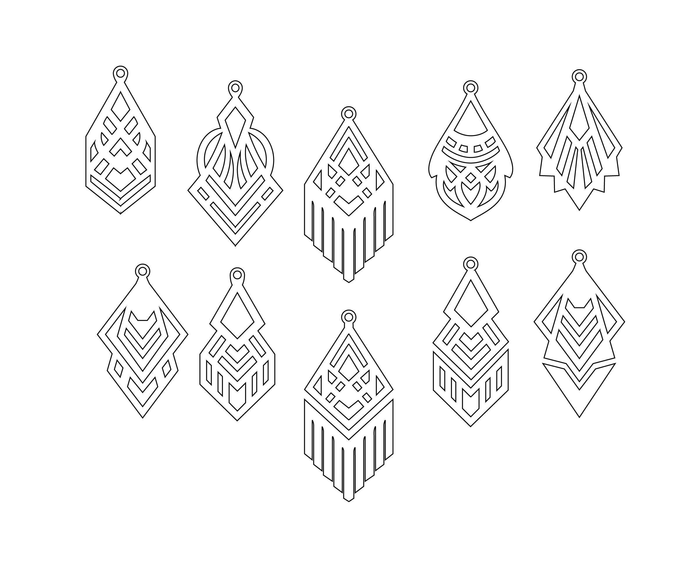 Download Free Leather Earring Template Svg File | Projects cricut ...