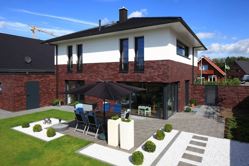 Stadtvilla modern klinker  Fassade Klinker Putz | Fassade | Pinterest | Putz, Klinker und ...
