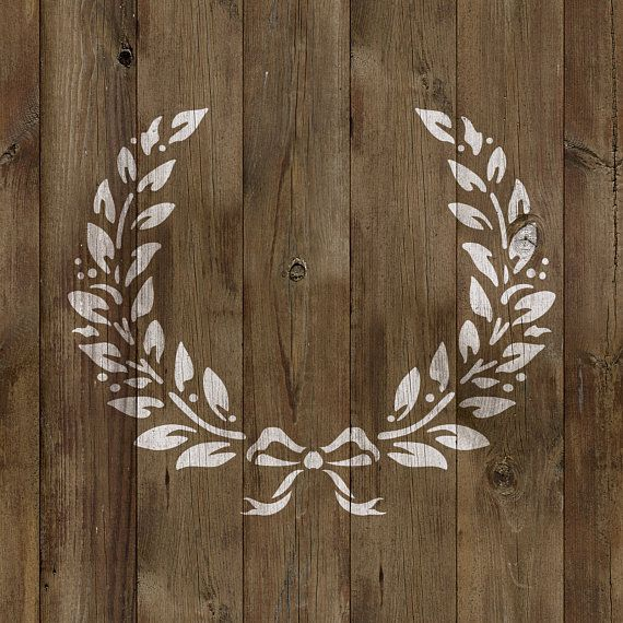 Laurel Wreath Stencil - Reusable DIY Craft Stencils of a ...