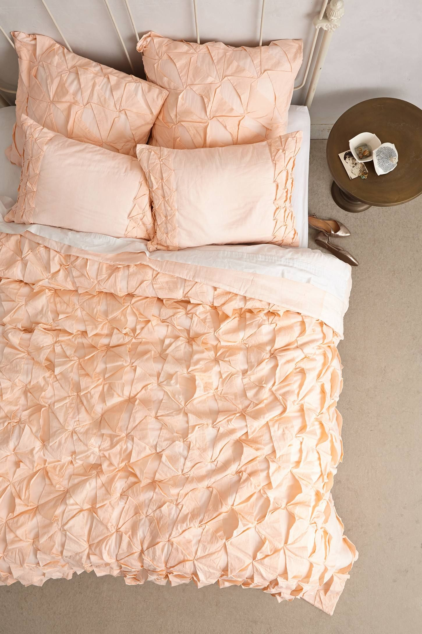 Basal Quilt anthropologie maybe in a grey bedroom