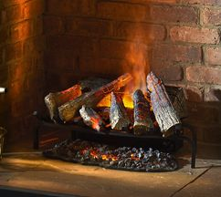 Silverton Basket Electric Fire With Opti Myst Flame Effect Fires