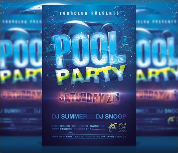 pool party invitation templates free printable – Pool Party Invitations Printable
