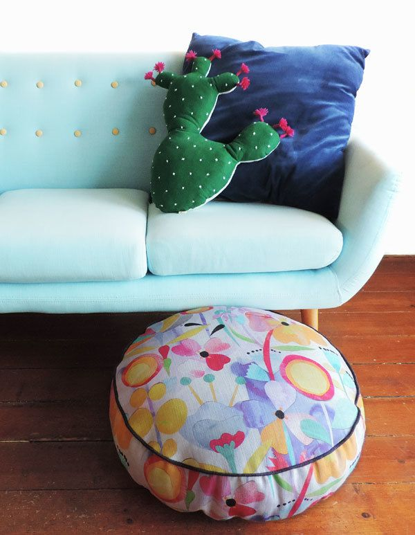 Just One Look pouf designed by Madeleine Stamer for Greenhouse Interiors, made by Sparkk.