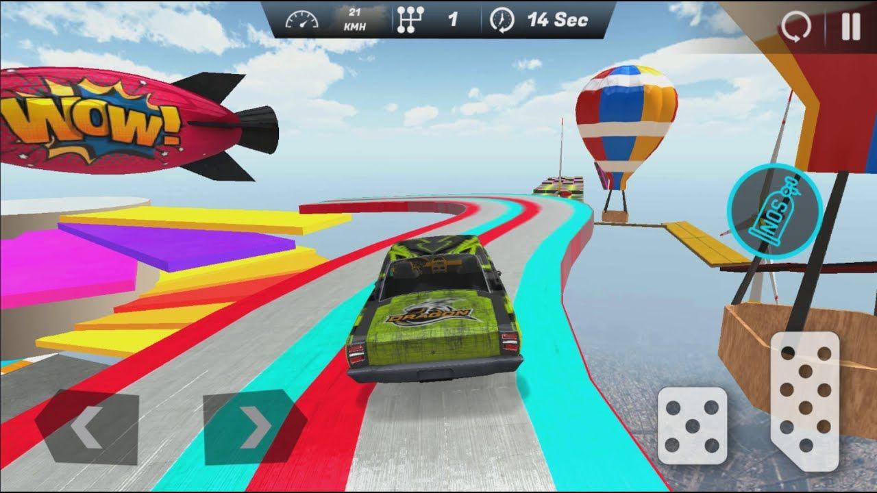 Muscle Car Stunts Simulator Mega Ramp Car Game Android Gameplay 2 In 2021 Car Games Bikes Games Stunts