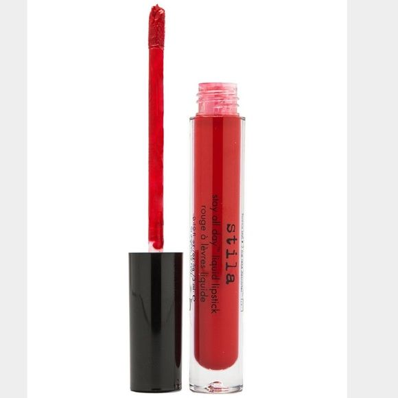 STILLA Stay all day RED Liquid Lipstick  NEW! Brand New! Liquid Lipstick long lasting Gorgeous shade of Red!! Perfect Holiday shade! I LOVE this color and the wear of it, this is just an extra thats why Im selling  If youve never tried the Stilla liquid Lipstick you will fall in love!! stilla Makeup Lipstick