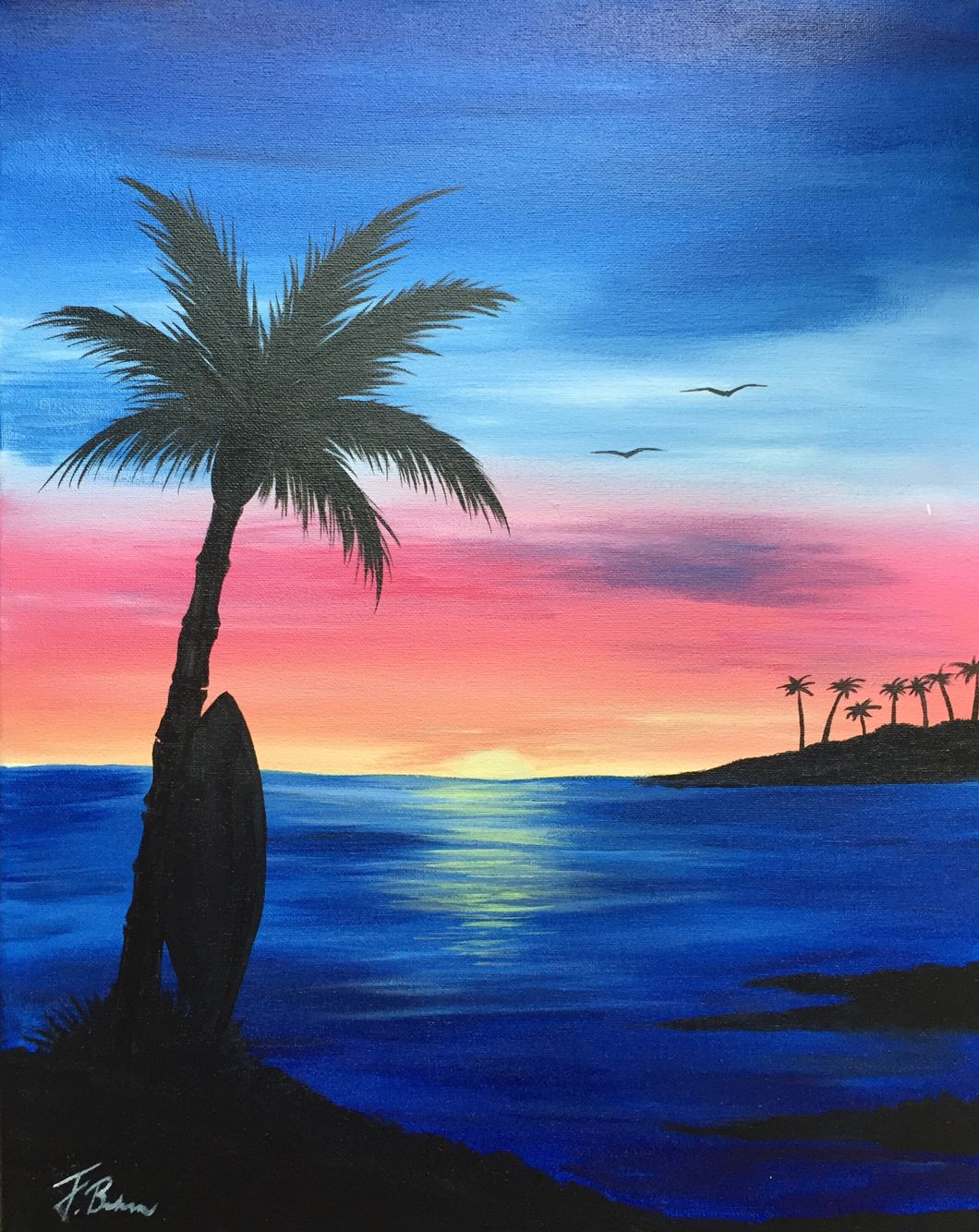 Island Sunrise Sunrise Painting Sunrise Art Painting Sunset