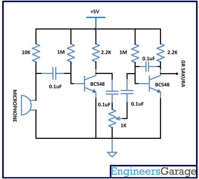 Microphone Amplifier Circuit - Talking Parrot using GR Sakura
