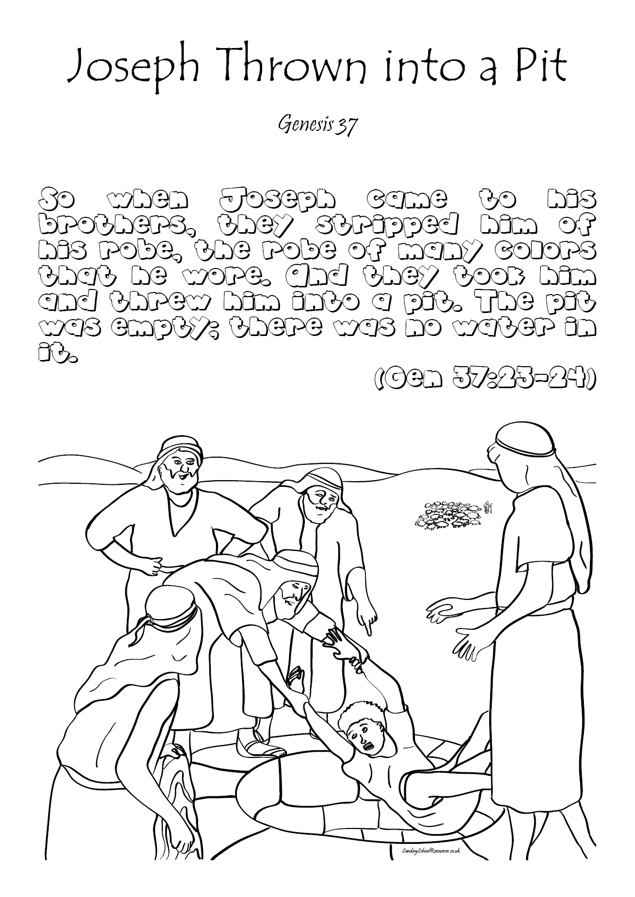 Bible Coloring Preschool Worksheet