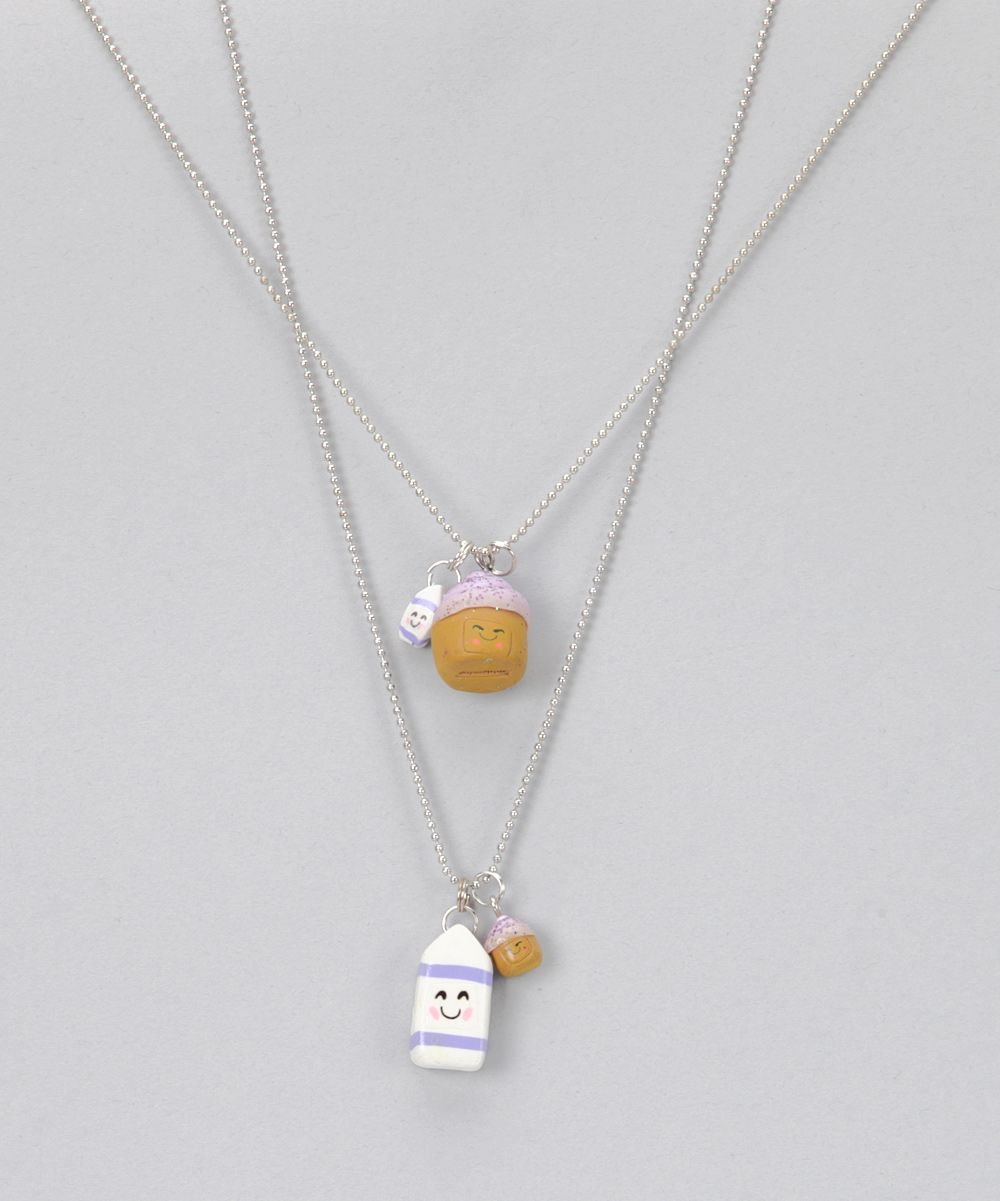 Cupcake u milk necklace set daily deals for moms babies and kids