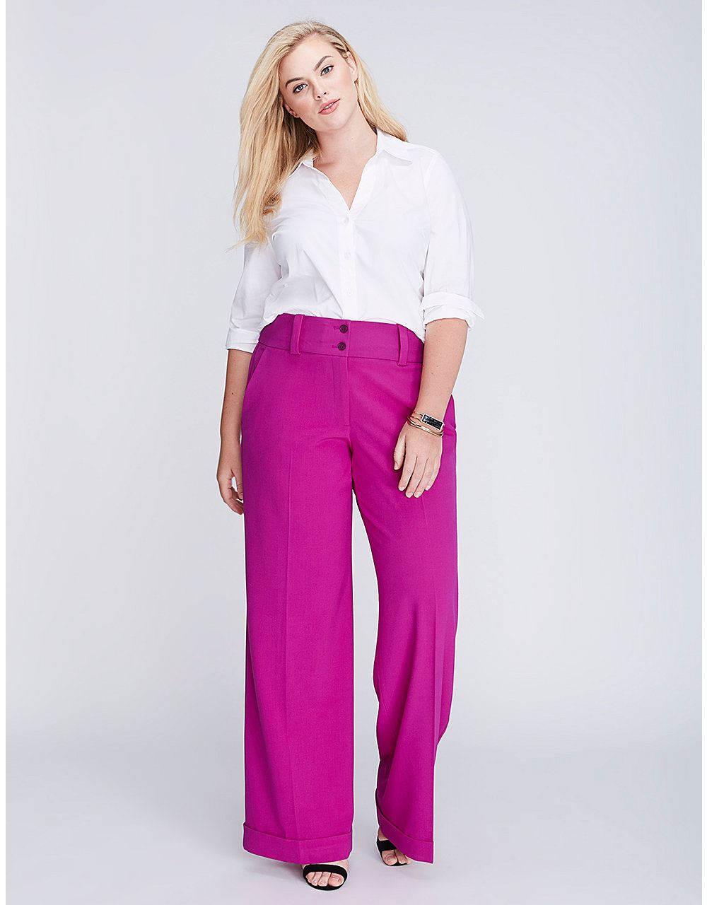 1a012605cc455 Lena Tailored Stretch Wide Leg Pant