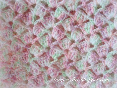 Lacy Crochet: Summer Baby Blanket in Variegated Yarn, Free Pattern ...