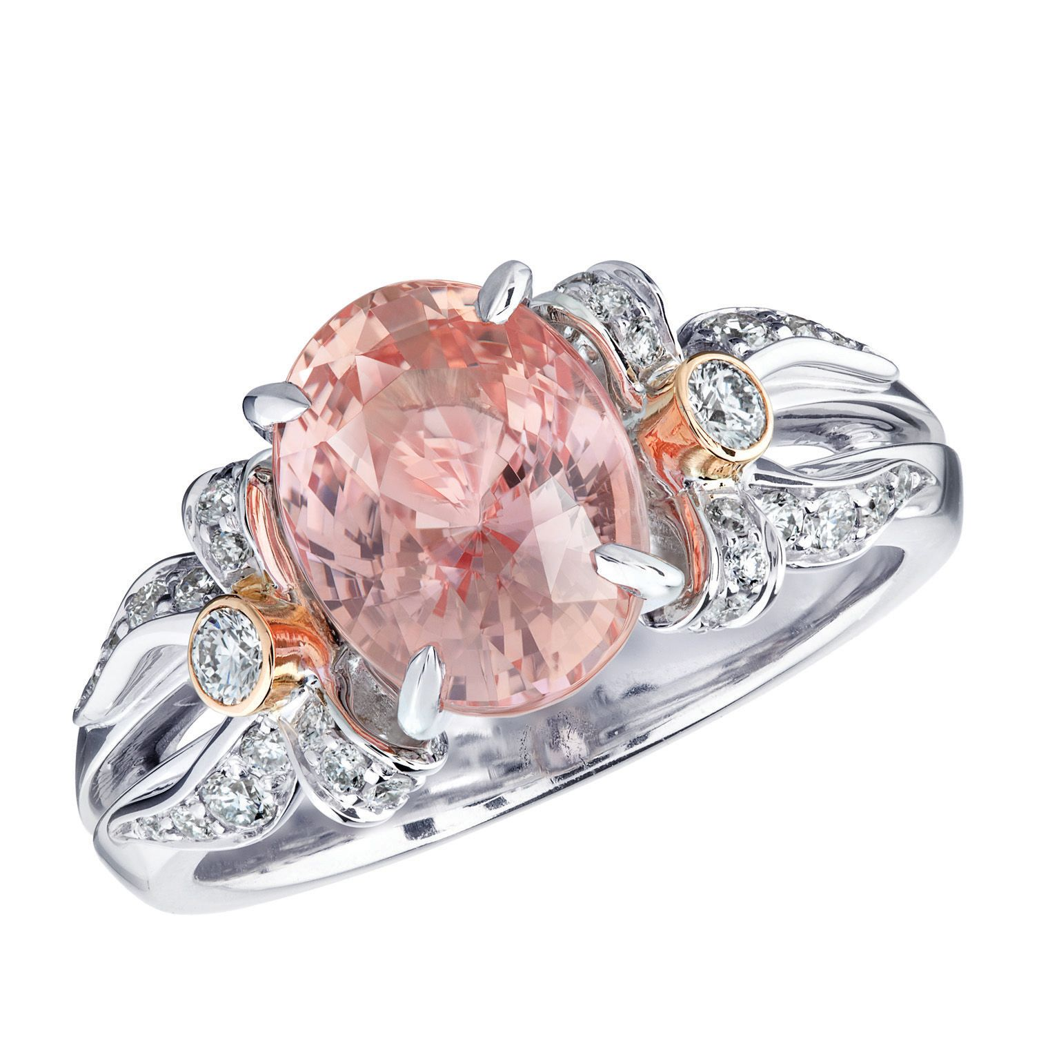 Fabergé Alix Padparadscha Ring #Fabergé #diamond #padparadscha #ring ...