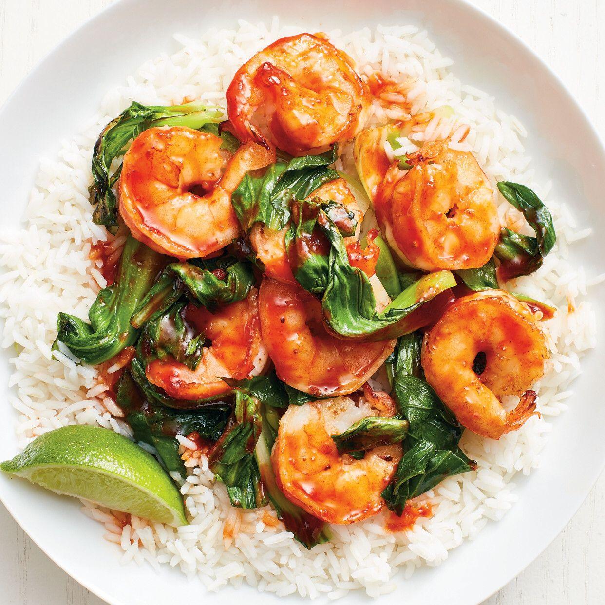 Shrimp and Bok Choy Stir-Fry