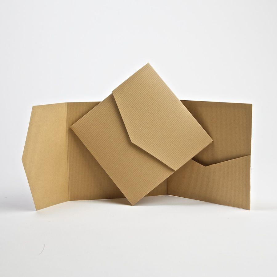 Kraft Pocketfold Invite #diyweddinginvites | Proyectos que intentar ...