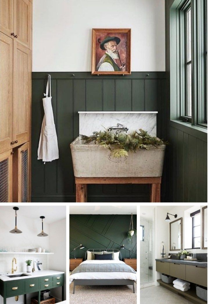 The Best Dark Green Paint Colors To Use in Your Home! #darkgreenkitchen