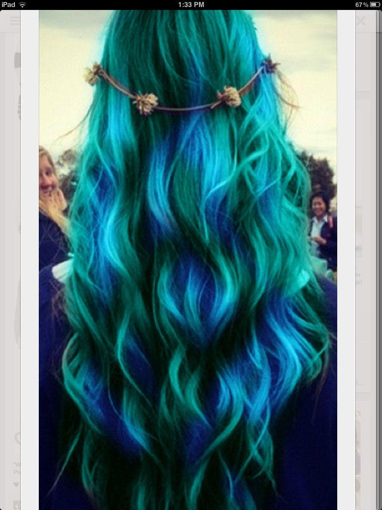Tealish bluish hair gonna try this hair pinterest hair