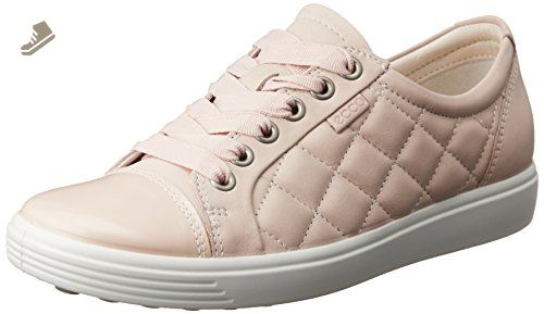 ECCO Women's Women's Soft 7 Quilted Tie Fashion Sneaker, Rose Dust/Rose  Dust,