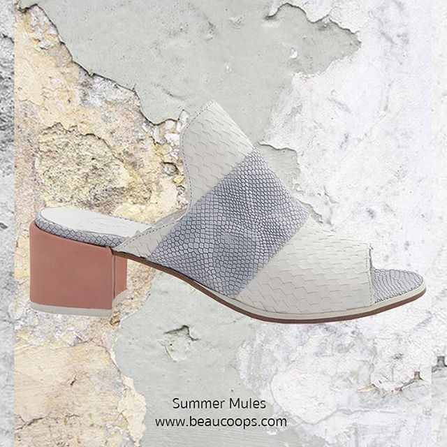 A Summer wardrobe isn't full without Summer Mules!  Introducing our Louis mule - Also available in black.  Don't miss out // www.beaucoops.com #beaucoops #fearless #mules