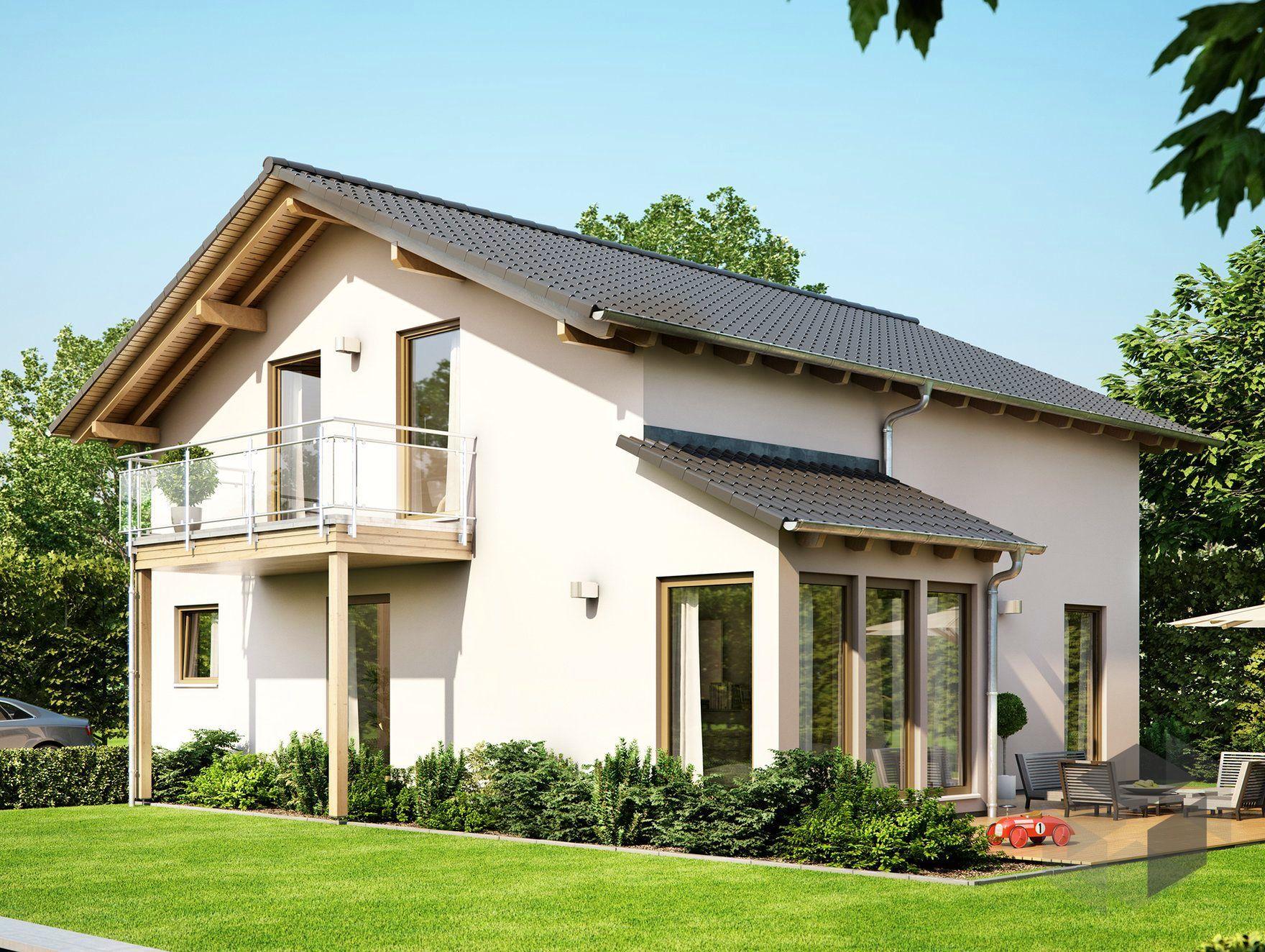 solution 151 v6 von living haus by bien zenker satteldach fertigh user haus living haus. Black Bedroom Furniture Sets. Home Design Ideas
