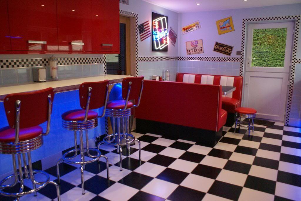 American Diner Style  1950sVintageSteam Punk  Diner