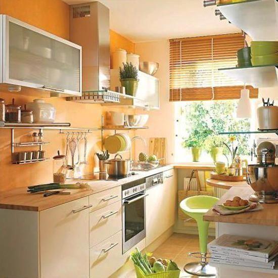 modern kitchens and #decor in orange color #kitchendesignideas
