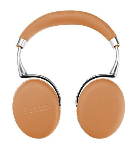 Parrot Zik 3 Wireless Noise Cancelling Headphones With Parrot Wireless Charge Accessory in Matching Color (Camel Leather-Grain): Cell Phones & Accessories
