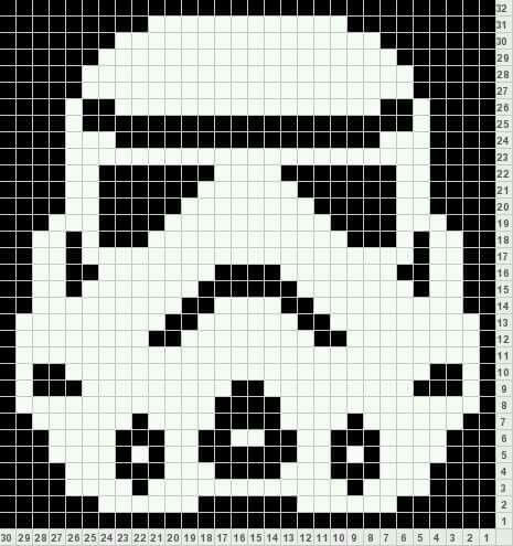 Stormtrooper graph pattern   Graphs for crochet   Pinterest