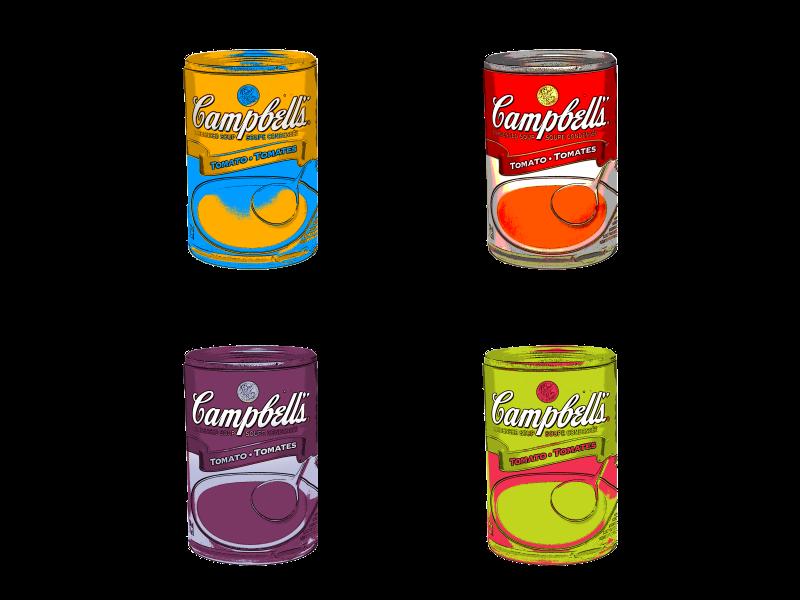 Pop Art Campbell Soup Pop Art Seamless Textures Campbell Soup