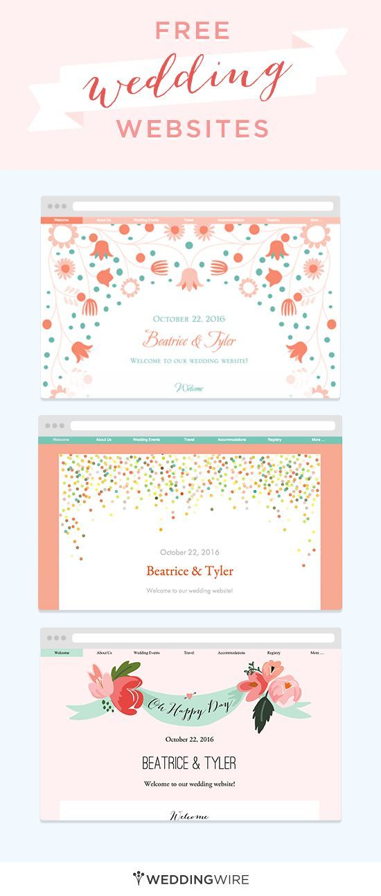Create A Free Wedding Website To Share Your Info With Family And Friends Plus Its