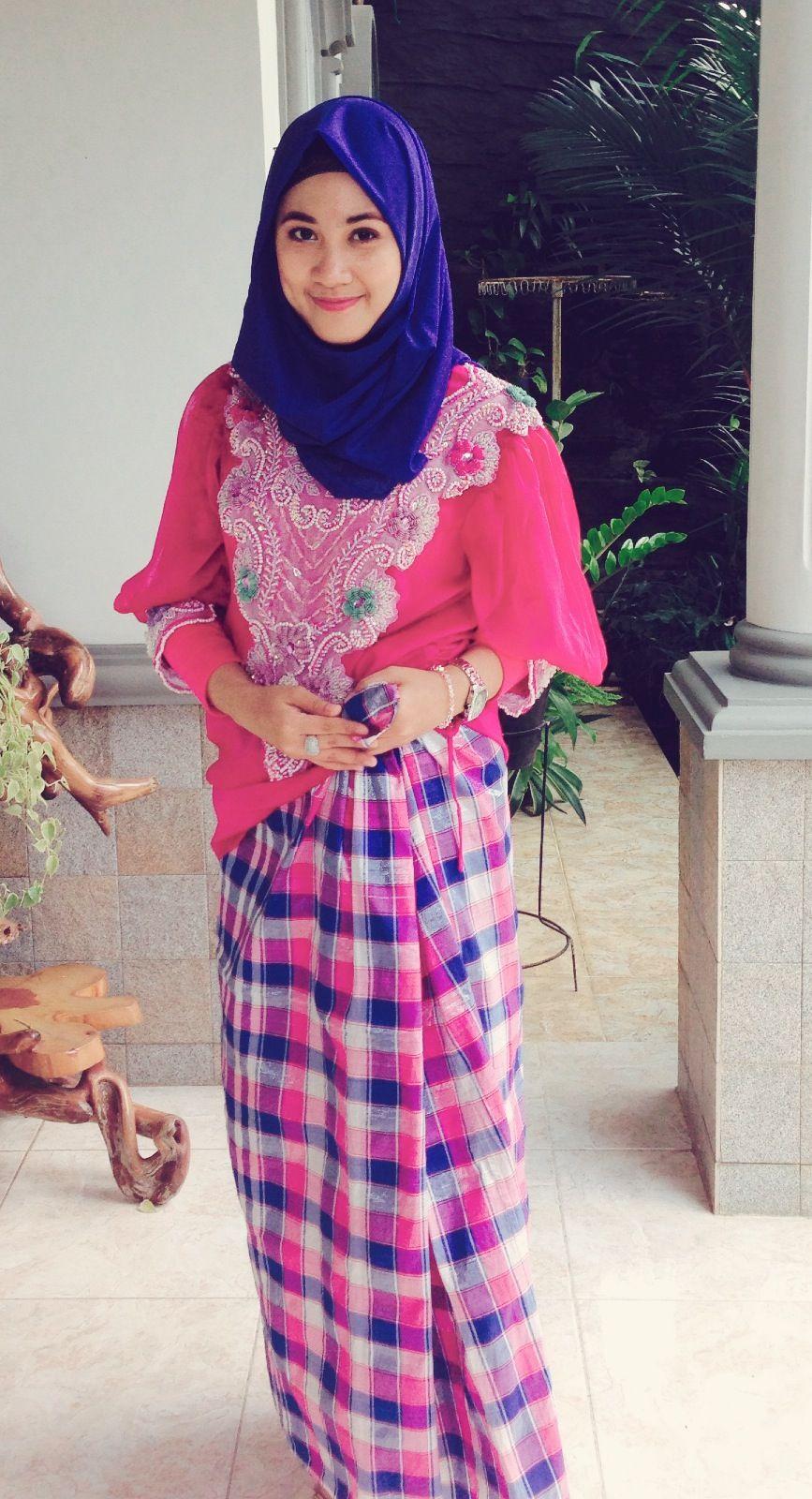 88 Contoh Baju Bodo Dengan Jilbab Paling Unik