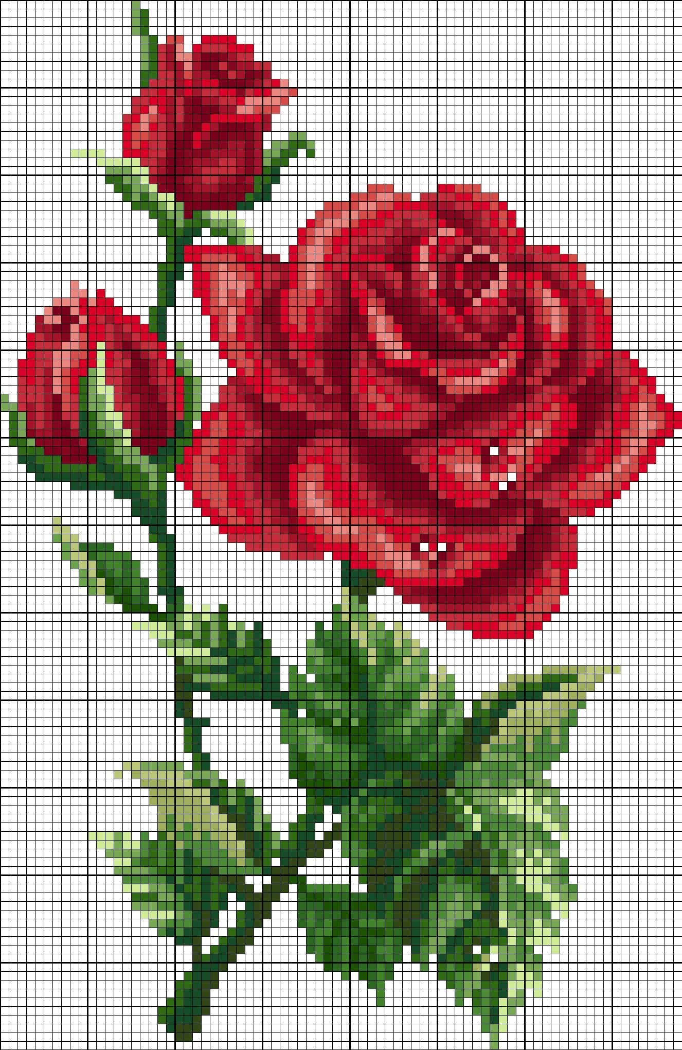 Photo of rose cross stitch pattern APEX cross stitch – Cross stitch embroidery – Allison Blog